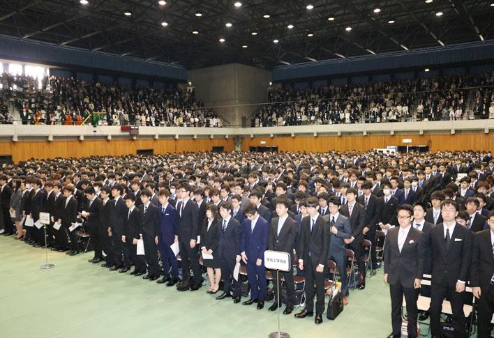 平成28年度入学式 1,457人が入学...